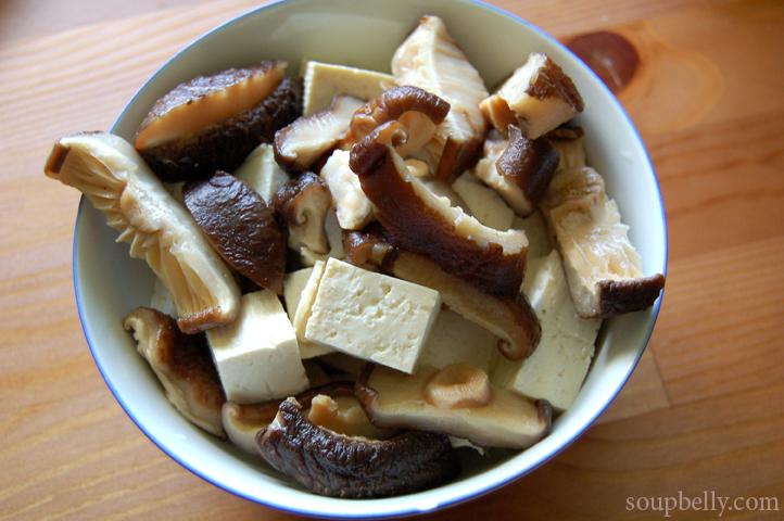 Stir-Fried Tofu And Shiitake Mushrooms In Spicy Black Bean ...