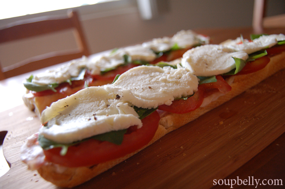 ... , Basil, Tomato and Mozzarella (aka best sandwich ever). | Soupbelly