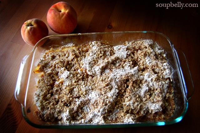 Peach & Berry Crumble
