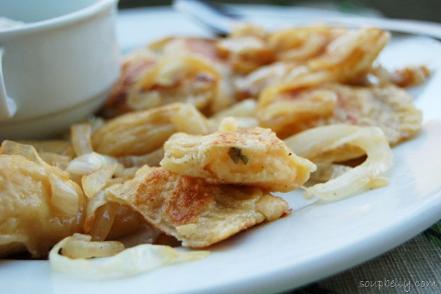"... mouthful of potatoey goodness: ""That's a damn good pierogi"