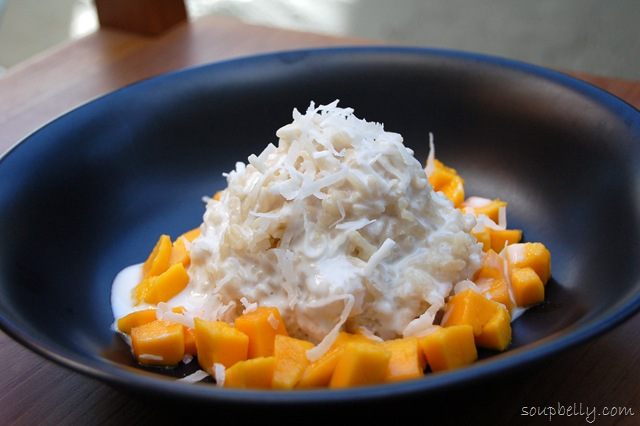 Thai Coconut Sticky Rice With Mango Soupbelly