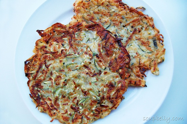Super Easy Zucchini Pancakes. | Soupbelly