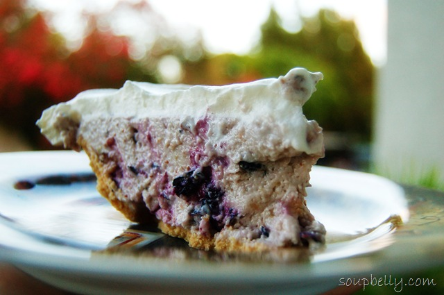 No-Bake Blueberry Cheesecake.
