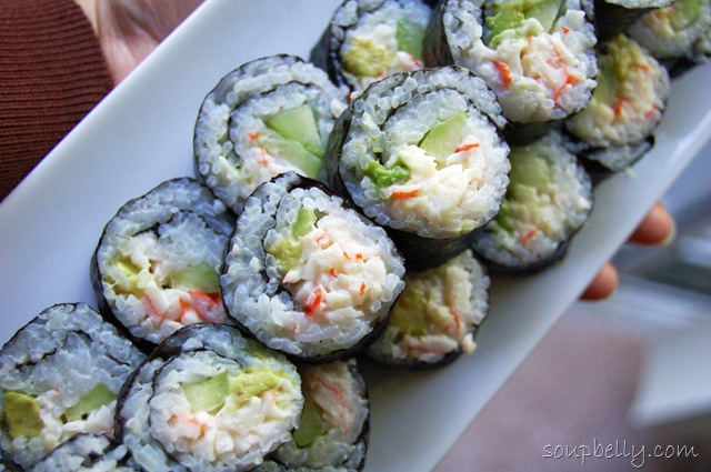 ... my post here for more detailed instructions on how to roll sushi