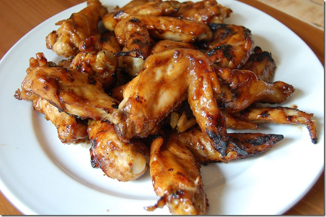 Grilled Chicken Wings with Hoisin Sauce and Honey - Soupbelly