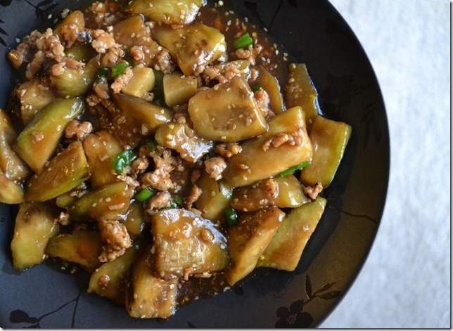 Garlic Eggplant Stir Fry
